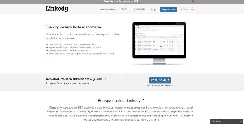 Outil de suivi de backlink Linkody