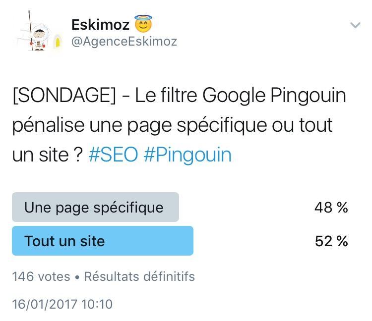 Le filtre Google Pingouin penalise une page specifique ou tout un site ?